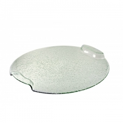 Deco Glass  Bent Handle Platter