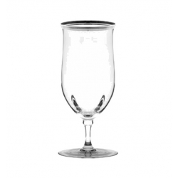 Windsor Water Goblet W/Silver Band