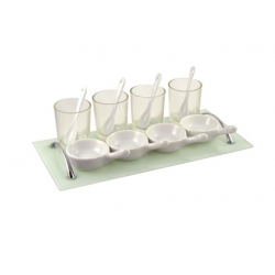 Appetizer Set 13 Pc Rec Glass