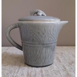 """San Rafael Tea Pot Gray  10.5"""""""