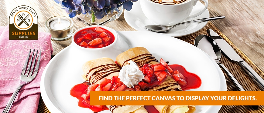 Find the perfect canvas to display your delights.